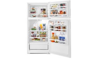 Amana® 28-inch Wide Top-Freezer Refrigerator with Dairy Center – 14 cu. ft. ART104TFDW full
