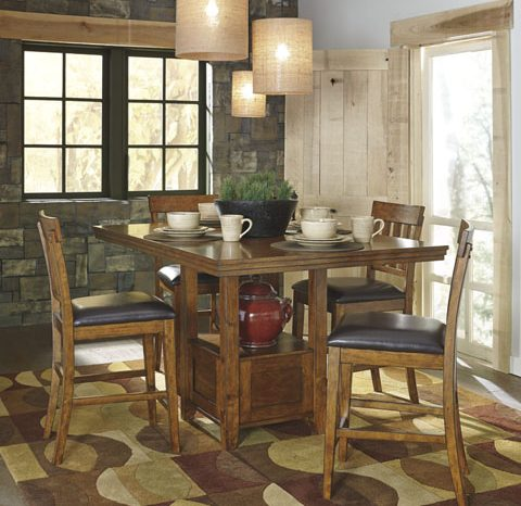 D594 Ralene 5PC Counter Height Dining Table 5