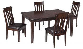 D596 Haddigan 5 PC Rectangle Dining Table D596-35-01(4) full