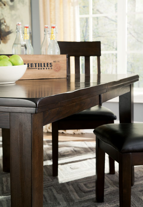 D596 haddigan 5pc counter height dining table d596 42 124 for Dining room tables knoxville tn