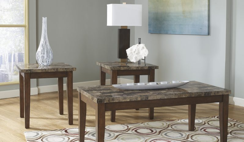 T158 13 ashley theo occasional tables 3pc smartway for Dining room tables knoxville tn