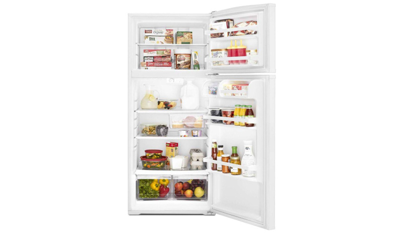 WHIRLPOOL 28-inch Wide Top-Freezer Refrigerator with Improved Design – 16 cu. ft.WRT316SFDW full