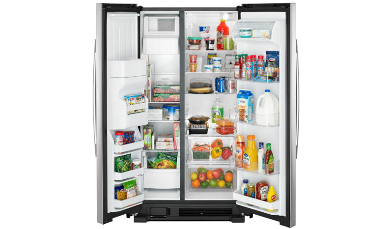 ASI2575GRS 36-inch Side-by-Side Refrigerator with Dual Pad External Ice and Water Dispenser full