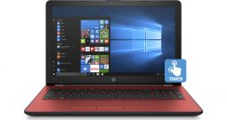 HP 15 Laptop Touchscreen, Intel Pentium, Intel UHD Graphics 610, 500GB HDD, 4GB SDRAM, Scarlet Red, 15-bs144wm