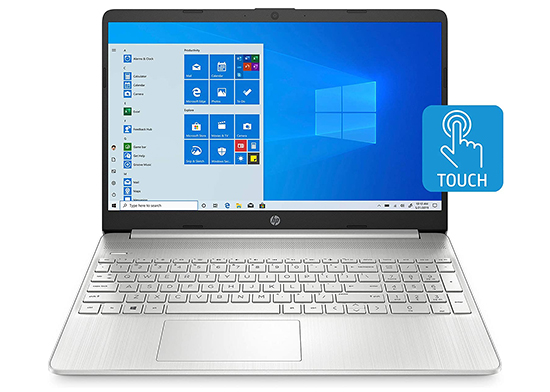 15-EF1020NR HP – 15.6″ Touch-Screen Laptop – AMD Ryzen 3 – 8GB Memory – 256GB SSD – Vertical Brushed Pattern, Natural Silver full